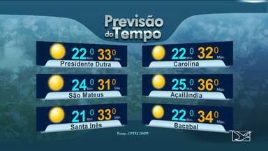 Previsão do tempo para o Maranhão para esta quarta-feira (27) - Previsão do tempo para o Maranhão para esta quarta-feira (27) no Bom Dia Mirante.