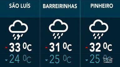 Confira a previsão do tempo no Maranhão - Depois de uma manhã parcialmente nublada em São Luís as chances de chuva na tarde deste sábado (30) são de 80 por cento.