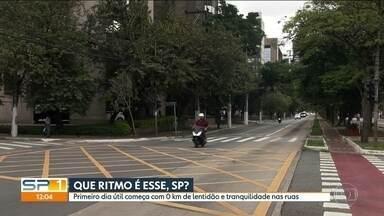 Primeiro dia útil do ano é de tranquilidade em São Paulo - O ano de 2018 começou oficialmente nesta terça-feira (2). Pela manhã, a cidade teve zero quilômetro de lentidão e tranquilidade nas ruas.