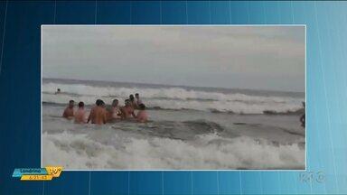 Bombeiro de folga salva família no litoral - Desde o começo da Operação Verão, foram registrados cerca de 500 afogamentos nas praias do Paraná.
