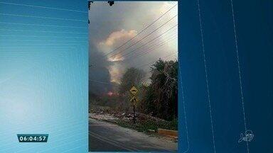 Incêndio de grandes proporçòes é controlado no município de Ipu na Serra de Ibiapaba - Saiba mais em g1.com.br/ce