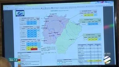 Governo do estado monitora situação dos rios de Mato Grosso do Sul - Defesa Civil está em alerta. Previsão é de mais chuva para o estado.