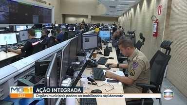 Saiba como funciona o Centro Integrado de Operação de BH, voltado para ações emergenciais - Vários órgãos da prefeitura podem ser mobilizados para atender as ocorrências de forma coordenada.