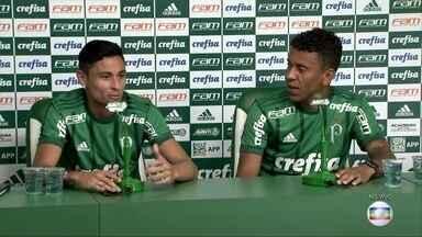 Laterais Diogo Barbosa e Marcos Rocha são apresentados no Palmeiras - Laterais Diogo Barbosa e Marcos Rocha são apresentados no Palmeiras