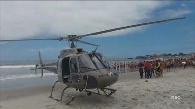 Polícia Militar alerta para cuidados quando aeronave de resgate estiver nas praias - Polícia Militar alerta para cuidados quando aeronave de resgate estiver nas praias