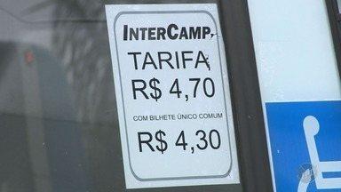 Passageiros reclamam do aumento da passagem no transporte coletivo de Campinas - Tarifa de R$4,70, que começou a valer neste sábado (6), passa a ser uma das maiores no estado de São Paulo.