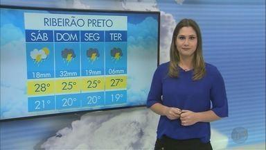 Previsão de chuva neste domingo (7) na região de Ribeirão Preto - Temperatura fica mais baixa em todas as cidades.