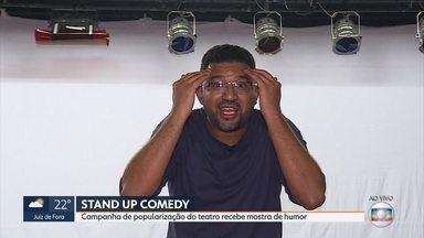 Mostra de stand up comedy é novidade na Campanha de Popularização do Teatro - Atores improvisam e interagem com o público. MG1antecipa o que vai rolar na programação.
