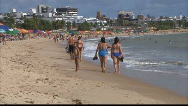 Por medo das águas-vivas, movimento nas praias de JP diminuiu - Nos últimos dias, número de águas-vivas tem assustado os banhistas.