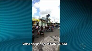Motociclistas e motoristas protestam contra o preço da gasolina em Boquim - Motociclistas e motoristas protestam contra o preço da gasolina em Boquim.