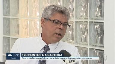 Chefe do Detran de Minas Gerais diz que vai abrir processo administrativo contra ele mesmo - O delegado César Augusto Monteiro Alves Júnior tem 120 pontos acumulados em infrações na CNH.