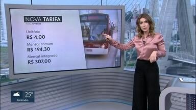 Transporte público na capital fica mais caro a partir deste domingo (07) - As passagens de ônibus, trens e metrô sobem 5,2%. O novo valor da tarifa será de R$ 4.