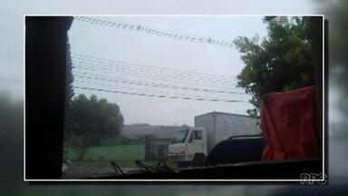 Teve chuva de granizo neste sábado em Beltrão - Foram mais de 32 milímetros só nesta tarde na região.