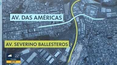 Moradores de Contagem esperam há quase dois anos conclusão de um viaduto - O viaduto está sendo construído na Avenida das Américas com Avenida Severino Balesteros.