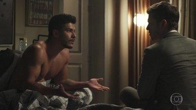 Bruno aconselha Diego a não se encontrar mais com Karina - Diego garante que ama Melissa, mas prefere satisfazer seus desejos com outra mulher