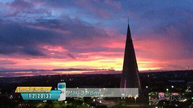 Telespectadora registra belo pôr do sol em Maringá - Participe também pelo aplicativo Você na RPC.