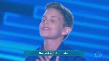Representante de Indiavaí emociona jurados no The Voice Kids - Representante de Indiavaí emociona jurados no The Voice Kids