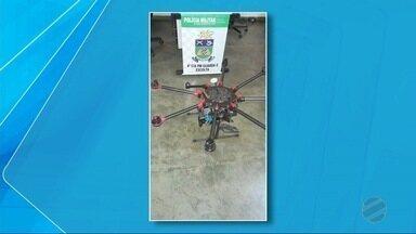 Drone é abatido em presídio de Mato Grosso do Sul - O equipamento foi abatido a tiros no domingo (14), no Presídio Estadual de Dourados.