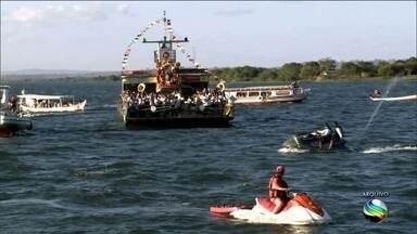 Procissão de Bom Jesus dos Navegantes não chega ao lado sergipano - Baixa vazão do Rio São Francisco impossibilita a navegação.