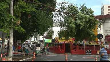 JPB2JP: Ventania de poucos minutos provocou muitos estragos em João Pessoa - Uma árvore caiu em fios de alta tensão no Centro da Capital.