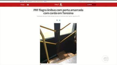 PRF flagra ônibus com portas amarradas com cordas - PRF flagra ônibus com portas amarradas com cordas