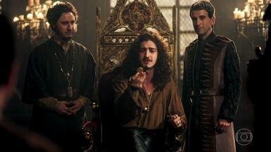 Rodolfo ganha uma moeda com seu rosto estampado - Os mineiros agradecem o príncipe por ter salvado suas vidas e fazem uma moeda com seu rosto estampado em forma de agradecimento