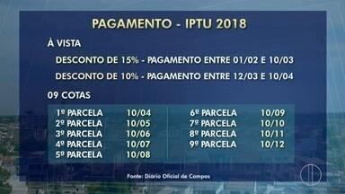 Campos, RJ, anuncia calendário para pagamento do IPTU 2018 - Este é um dos impostos que foram alterados no novo código tributário no município.
