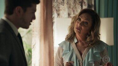 Nádia alerta Bruno sobre a possível gravidez de Tônia - Raquel conta para Bruno que a ex-mulher viajou para não receber a intimação do processo de divórcio