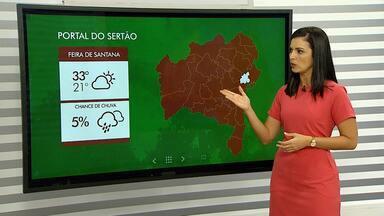 Previsão do tempo: estiagem prejudica colheita de caju na região de Feira de Santana - Thaic Carvalho apresenta as temperaturas para o território Portal do Sertão e para o extremo sul do estado.