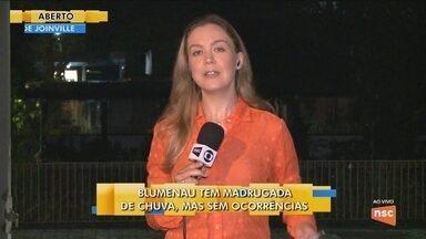 Blumenau tem madrugada de chuva; Defesa Civil segue monitorando - Blumenau tem madrugada de chuva; Defesa Civil segue monitorando