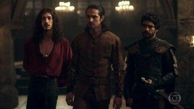 Rodolfo e Cássio não concordam com Afonso sobre o casamento - O príncipe disse que irá governar o reino com sua amada ao lado