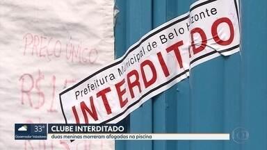 Clube onde duas meninas morreram afogadas é interditado pela prefeitura de Belo Horizonte - O clube fica no bairro Vista Alegre, Região Oeste da capital. No domingo, duas meninas de 3 e 4 anos estavam passando o dia no local com a família quando se afogaram.