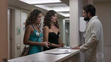 Leandra e Maíra visitam Duda no hospital - Renato diz que mandará notícias sobre o estado de saúde da paciente