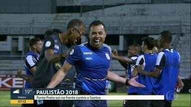 Santos vence Ponte Preta e se reabilita no Paulistão - Técnico Jair Ventura mexe bem no time e reservas fazem gols que dão a vitória de virada