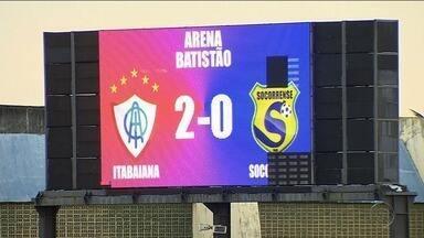Itabaiana derrota o Socorrense por 2 a 0 - Tremendão subiu para a vice-liderança do Campeonato Sergipano.