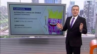 Interdições e alterações no transporte público no Carnaval de São Paulo - Veja as principais ruas e avenidas interditadas.