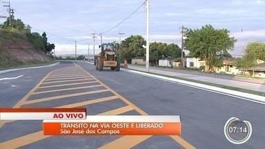 São José libera prolongamento da Via Oeste em São José - Trânsito no local será liberado após as obras.