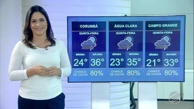 Veja a previsão do tempo para quinta-feira (8) em MS - Veja a previsão do tempo para quinta-feira (8) em MS.