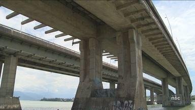Licitação para reforma das pontes de acesso à Ilha em Florianópolis completa dois anos - Licitação para reforma das pontes de acesso à Ilha em Florianópolis completa dois anos; governo alega falta de verba