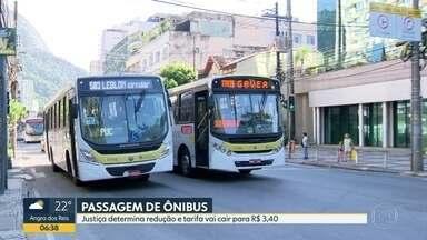 Justiça determina redução no preço da passagem de ônibus - Desembargadora decidiu que tarifa deve voltar a custar R$ 3,40. Na segunda-feira (6), valor subiu para R$ 3,60.
