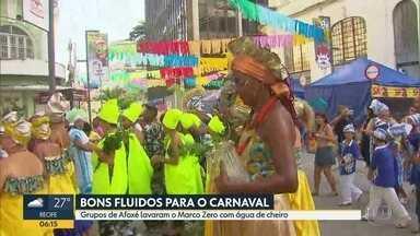 Afoxés fazem cerimônia no Recife para pedir boa energia para o carnaval - Encontro ocorreu na quinta-feira (8), no Centro