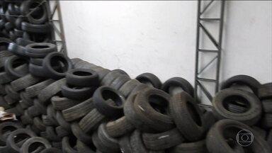 Apreensões de pneus contrabandeados vem aumentando no Brasil - De 2016 para 2017, o volume de pneus contrabandeados mais que triplicou. Os contrabandistas chegam a encaixar cinco pneus dentro de um, para tentar fugir da fiscalização.