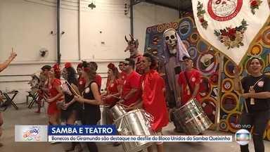 Blocos Unidos do Samba Queixinho vai levar bonecos do Giramundo para o carnaval de BH - O MG Cultura mostra parte da programação de blocos de carnaval de Belo Horizonte até terça-feira.