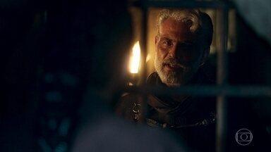 Demétrio diz ao duque que seus planos não deram certo - Demétrio diz que seria incapaz de cometer um assassinato