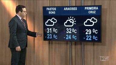 Confira a previsão do tempo no Maranhão - Segundo a meteorologia a quinta-feira (15) em São Luís será de tempo nublado com mínima de 23 graus e máxima de 30.