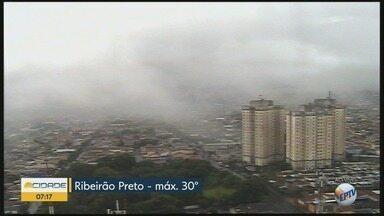 Previsão de chuva durante toda a quarta-feira (21) em Ribeirão Preto - Temperatura máxima deve ser de 30ºC.