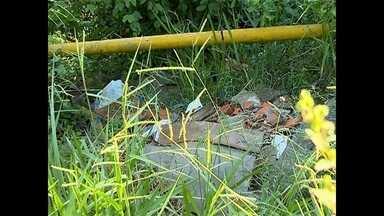 Moradores reclamam de vegetação alta nas ruas do bairro Nonoai em Santa Maria - A vegetação invade os dois lados da rua. Lixo é descartado de forma irregular.