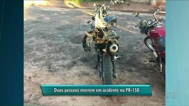 Duas pessoas morreram na PR-158 - O acidente envolvendo carro e moto foi entre Paranavaí e São João do Caiuá.