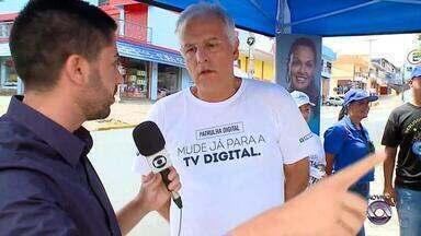 Caxias do Sul tem tenda da TV digital - Desligamento do sinal analógico vai até 14 de março.