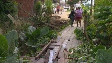 Moradores denunciam falta de reparos em ponte no bairro Cidade Nova - Local está há anos sem reparo.